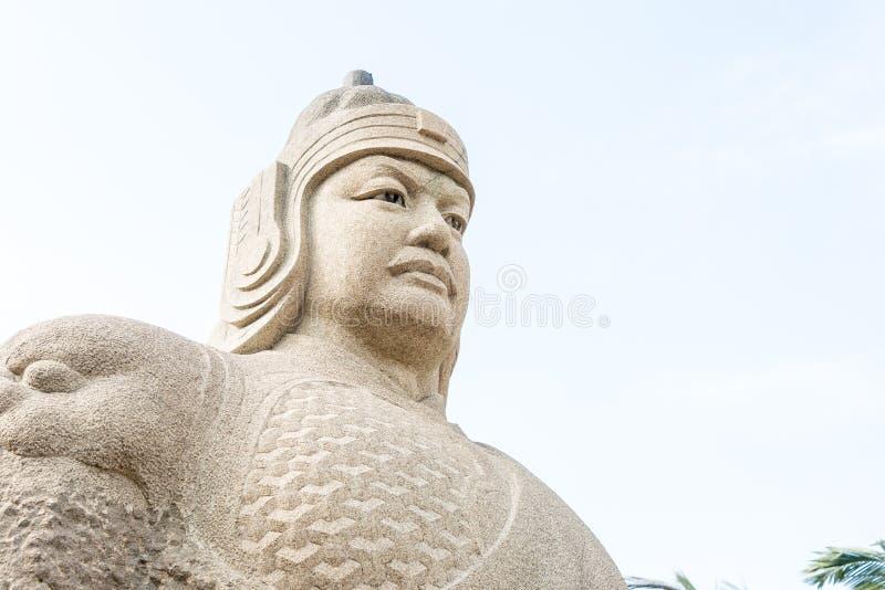 FUJIAN, CHINA - 31 de dezembro de 2015: Zheng Chenggong Statue no Zheng imagens de stock royalty free