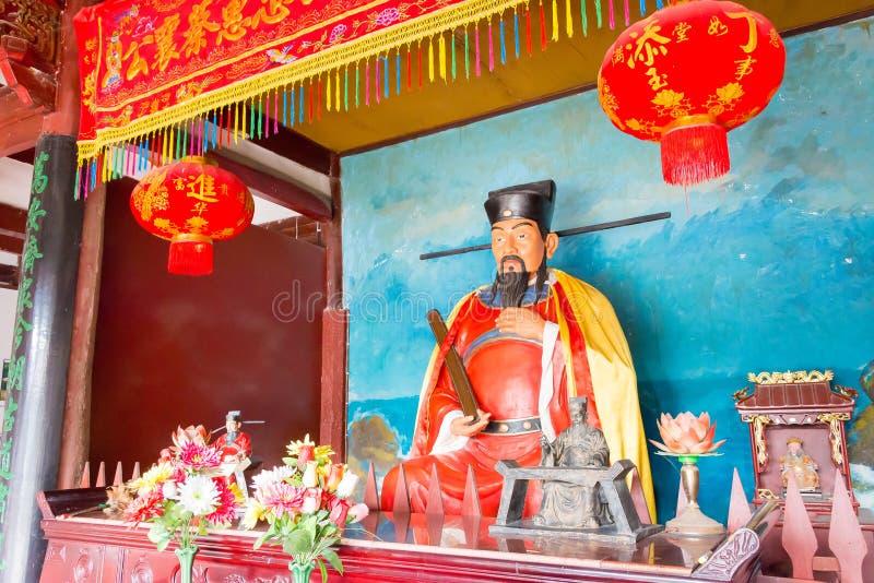 FUJIAN, CHINA - 29. Dezember 2015: Cai Xiang Statue bei Cai Xiang Templ lizenzfreie stockfotografie