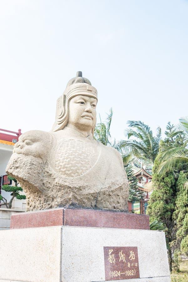 FUJIAN, CHINE - 31 décembre 2015 : Zheng Chenggong Statue chez le Zheng image libre de droits