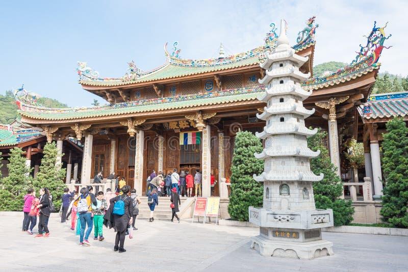 FUJIAN, CHINE - 7 janvier 2016 : Temple du sud de Putuo (temple de Nanputuo) photo stock