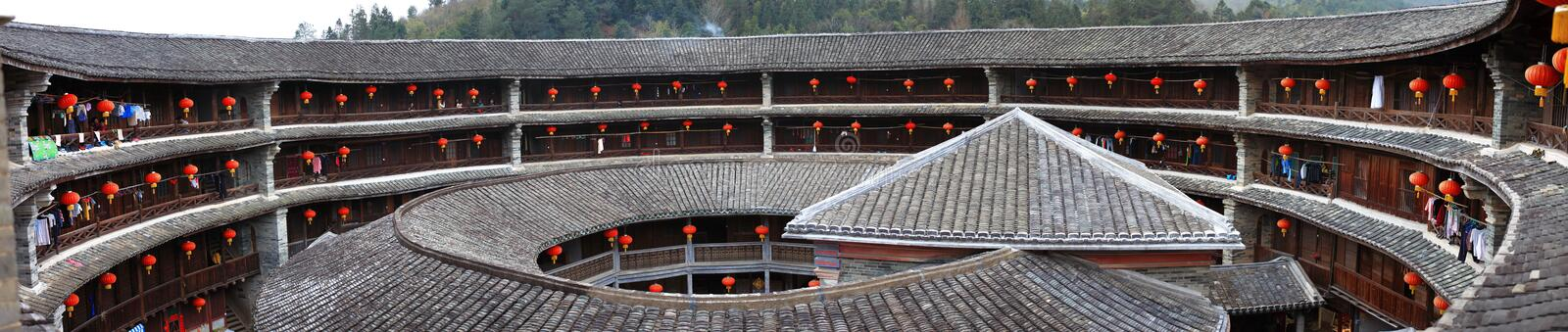 Fujian earthen structures royalty free stock photo