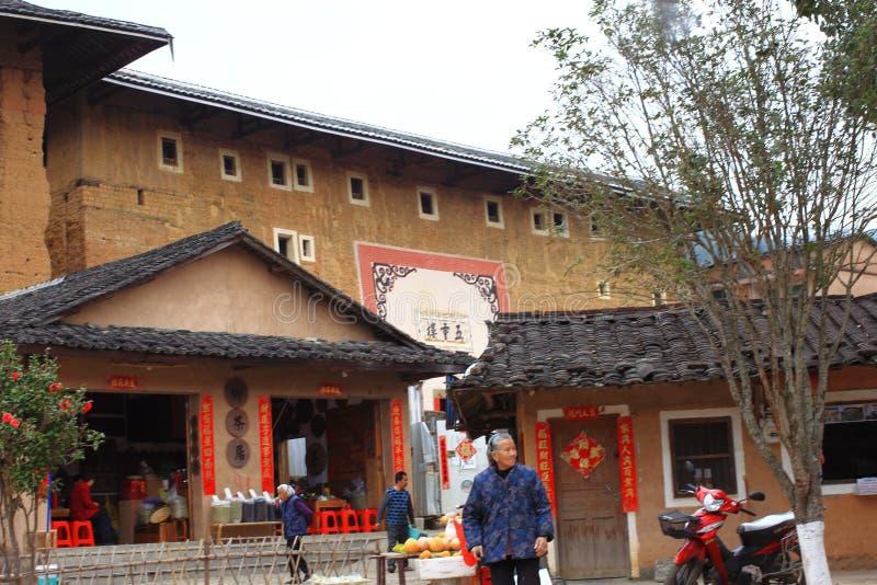 Fujian earthen struktury obraz royalty free