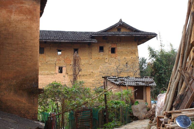 Fujian earthen struktury fotografia royalty free