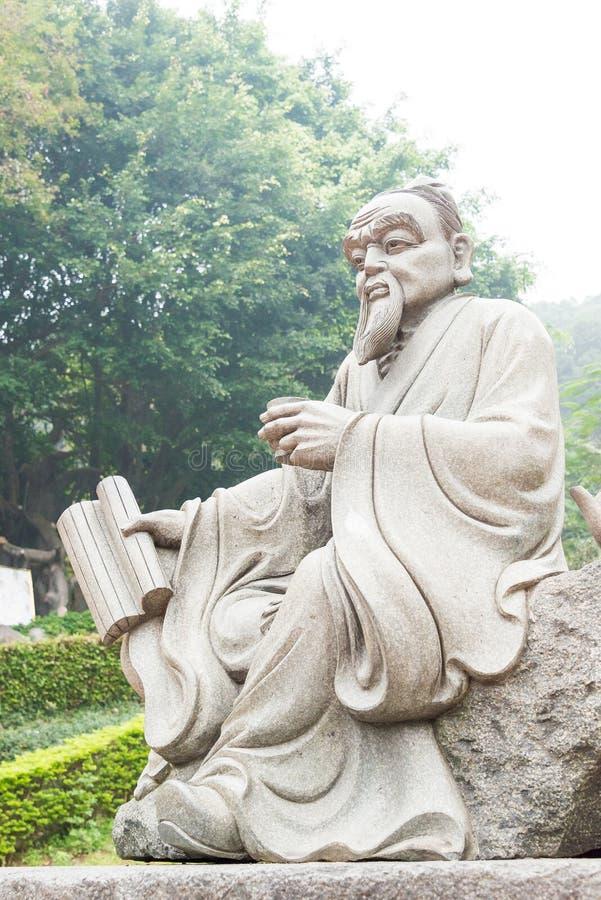 FUJIAN KINA - December 23 2015: Staty för Lu Yu på det storslagna siktsteet arkivbilder
