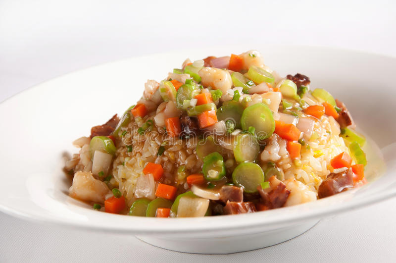 Fujian Stir-Fried Rice. Chinese cuisine-Fujian Stir-Fried Rice royalty free stock image