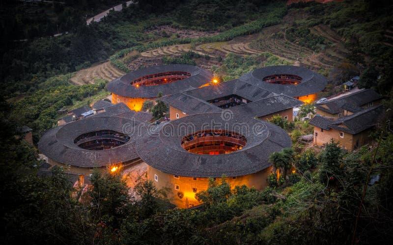 Fujian Tulou fotografia stock libera da diritti