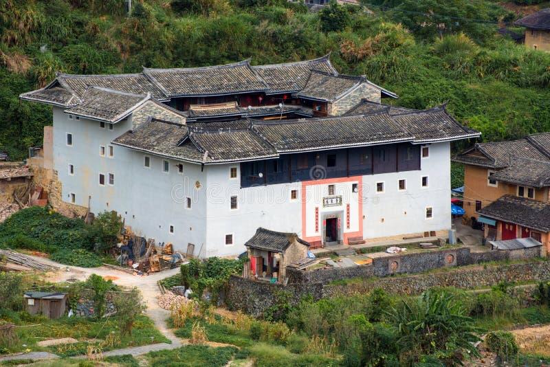 Fujian Tulou: Cortile tradizionale cinese delle case immagini stock libere da diritti