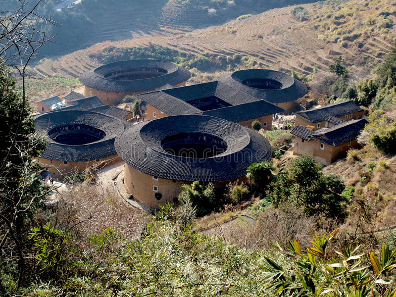 Download Fujian Tulou-special Architecture Of China Stock Photo - Image of kejia, nature: 8267078
