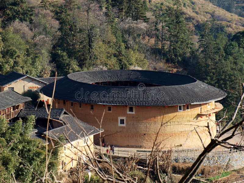 Fujian Tulou-special architecture of China royalty free stock photo