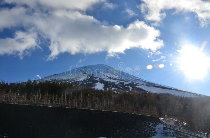 Fujiberg, de grote symmetrische berg stock foto's