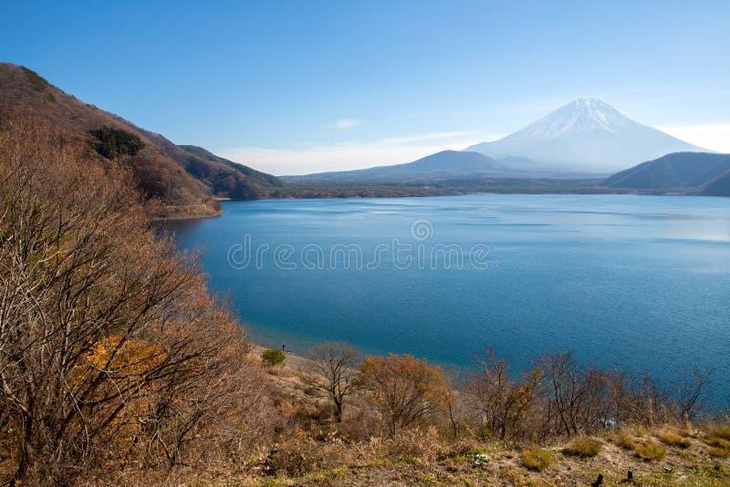 Fujisan avec le lac Motosu photo stock