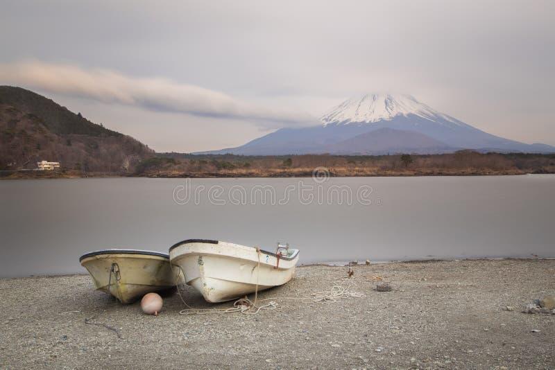 Fujisan e Shoji do lago imagem de stock royalty free