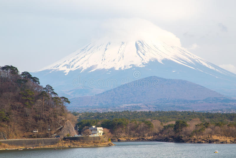 Fujisan e Shoji do lago fotos de stock