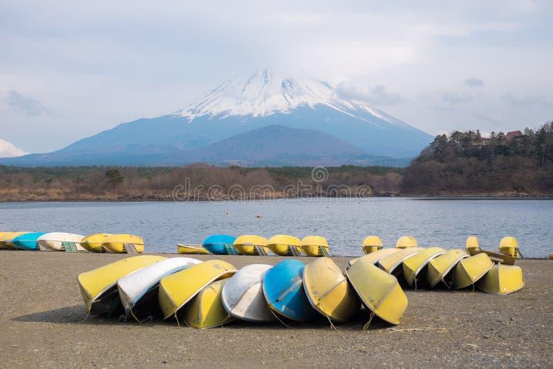 Fujisan e Shoji do lago imagem de stock