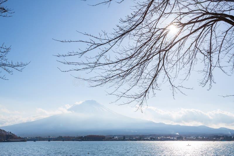 Fujisan from kawaguchigo lake. Mountain Fuji fujisan from kawaguchigo lake at Yamanashi Japan stock photo