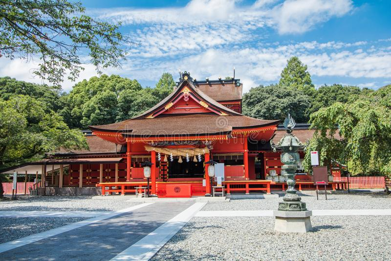 Fujisan Sengen寺庙是一个最大和最盛大的寺庙 库存照片