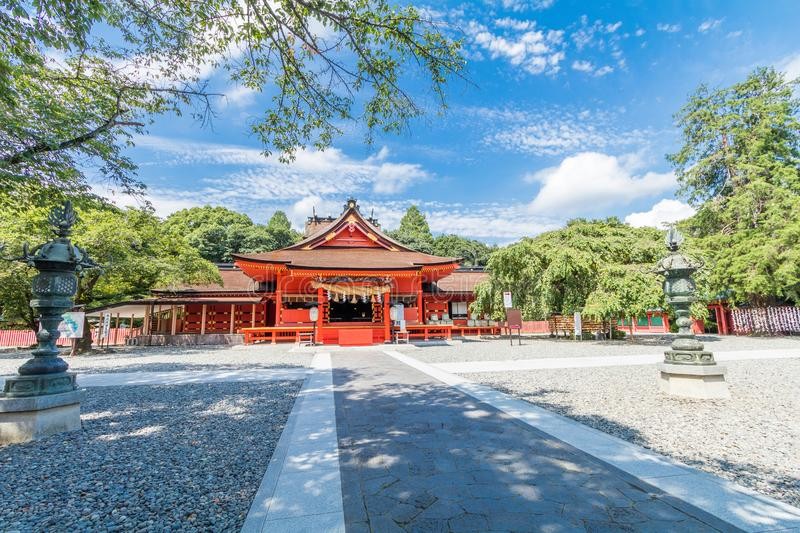 Fujisan Sengen Shrine was one of the largest and grandest shrine. S in the city of Fujinomiya in Shizuoka Prefecture, Japan royalty free stock image