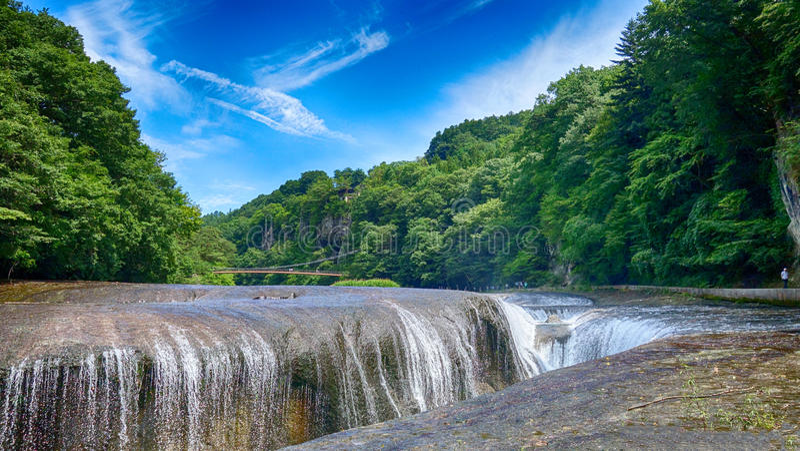 Fukiware kein Taki-Fall in Sommer, Numata, Gunma stockbilder