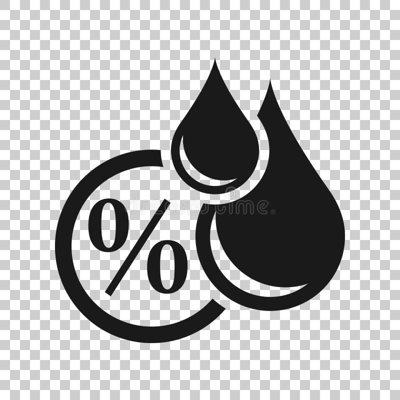 Fuktighetssymbol i genomskinlig stil Klimatvektorillustration på isolerad bakgrund Temperaturprognosaff?rsid? stock illustrationer
