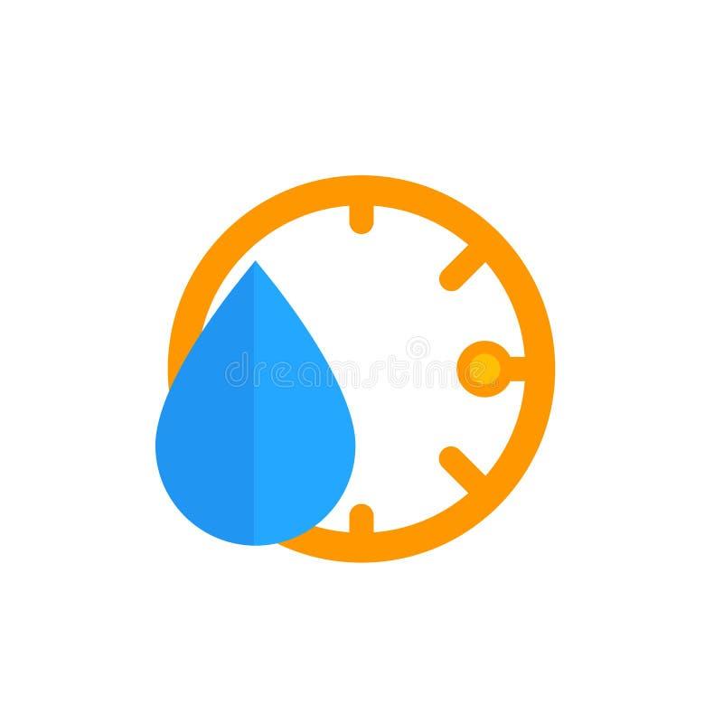 Fuktighetssymbol, vektor stock illustrationer