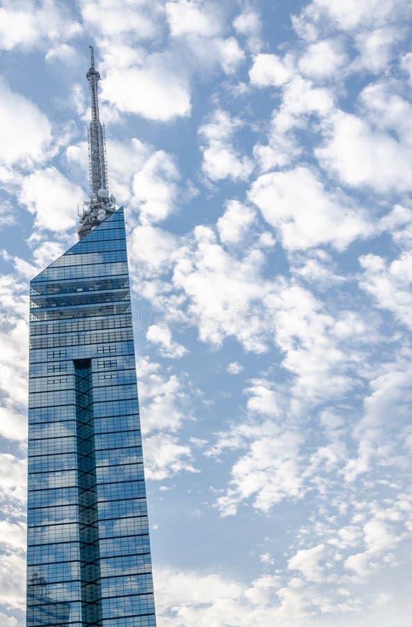 FUKUOKA, JAPAN - 6. NOVEMBER: Der Fukuoka-Turm lizenzfreie stockfotografie