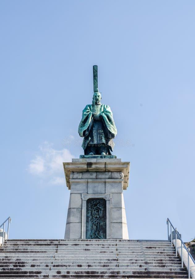 FUKUOKA, JAPAN - 6. NOVEMBER: Die Bronzestatue von Kameyama-JoKo stockfotografie