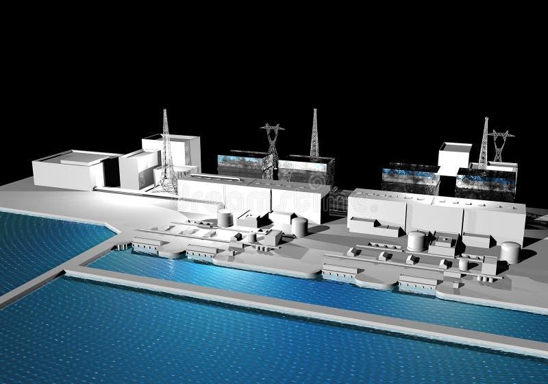 fukushima elektrownia nuklearna Japan royalty ilustracja