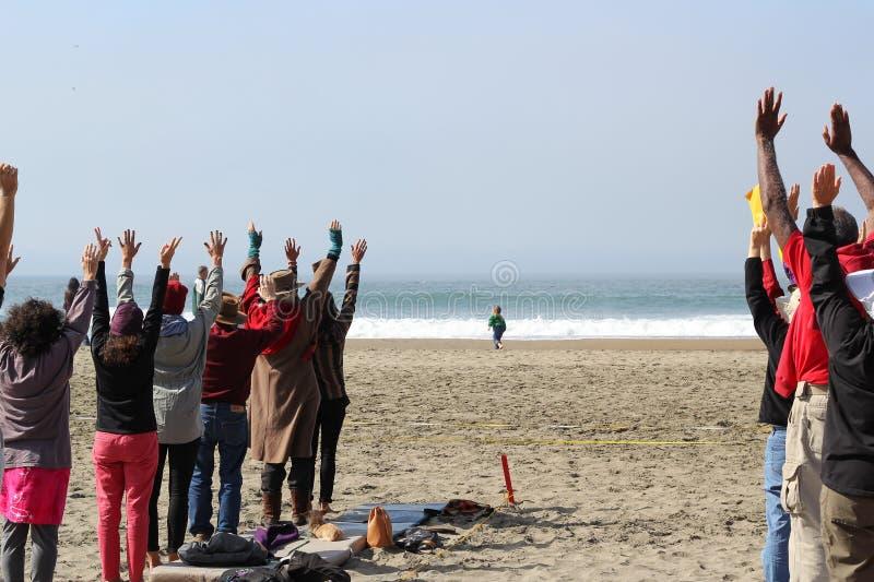 Fukushima está aquí protesta foto de archivo
