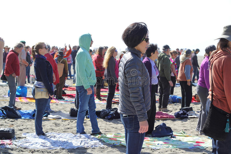 Fukushima está aqui protesto imagens de stock royalty free