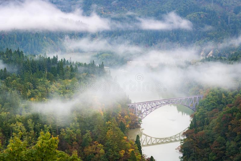 Fukushima First Bridge View point stock photography