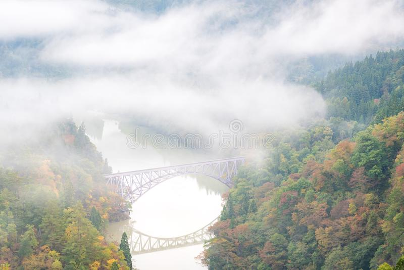 Fukushima First Bridge View point royalty free stock photo