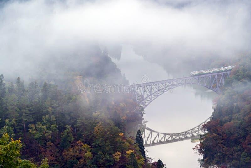 Fukushima First Bridge View point stock image