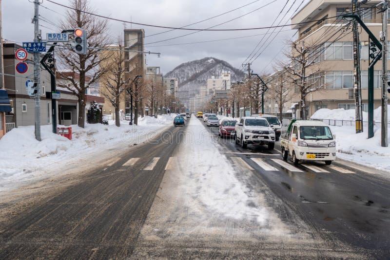 Fukuzumi soen dori in de Winter stock fotografie