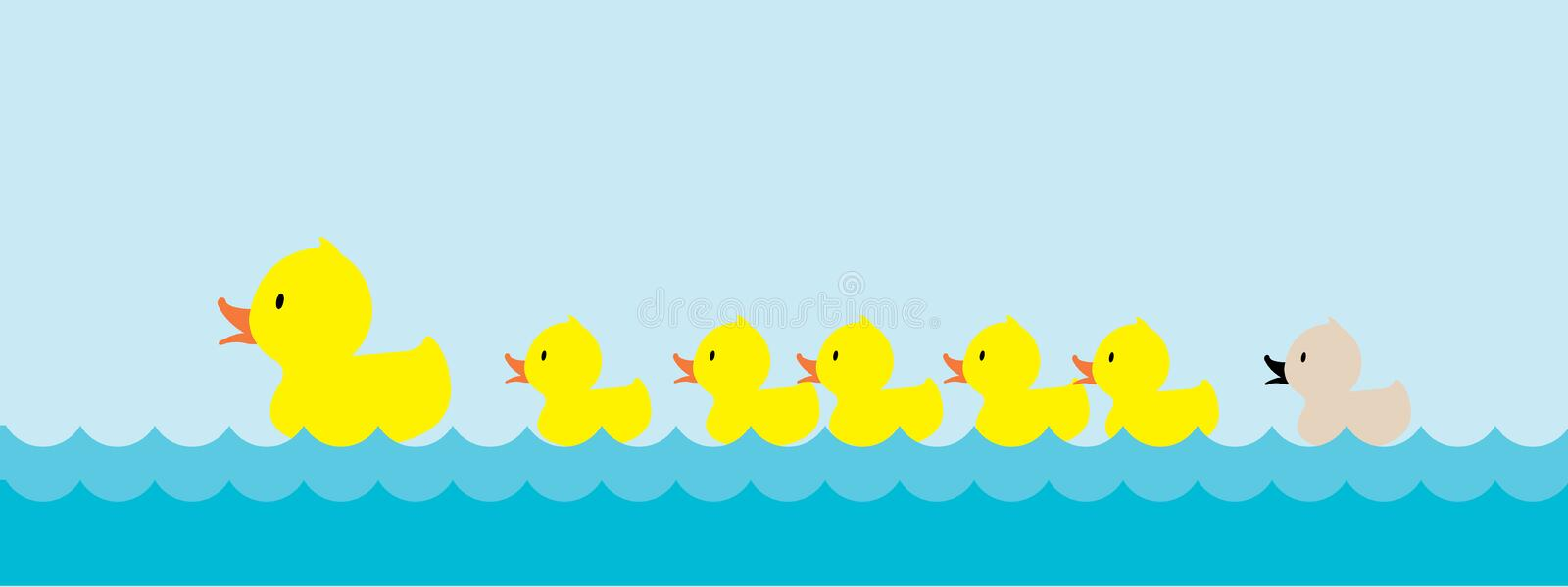 Ful duckling royaltyfri illustrationer