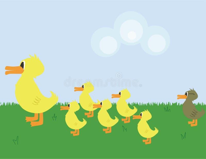 ful duckling stock illustrationer