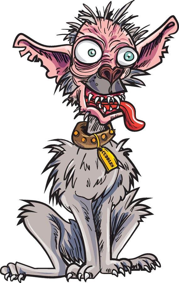Ful hund för tecknad film mycket royaltyfri illustrationer