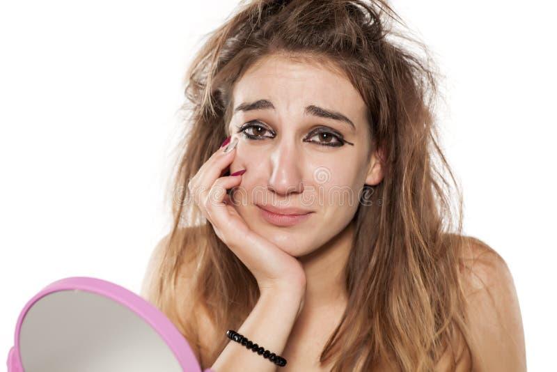 Ful makeup royaltyfri fotografi