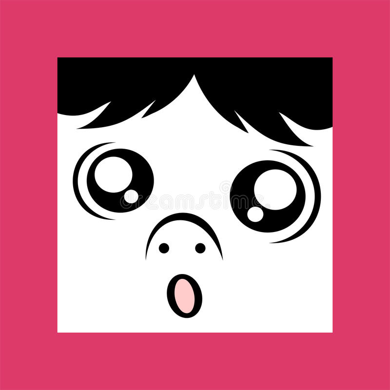 Ful uttryckssymbol stock illustrationer