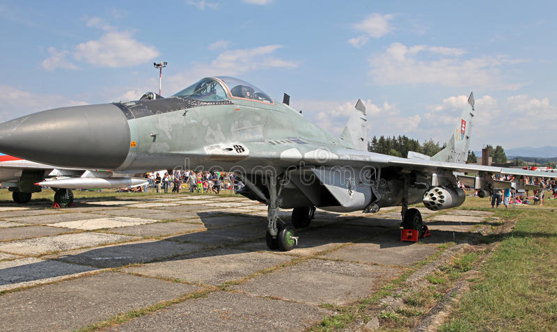 Fulcro degli aerei Mig-29 immagine stock libera da diritti