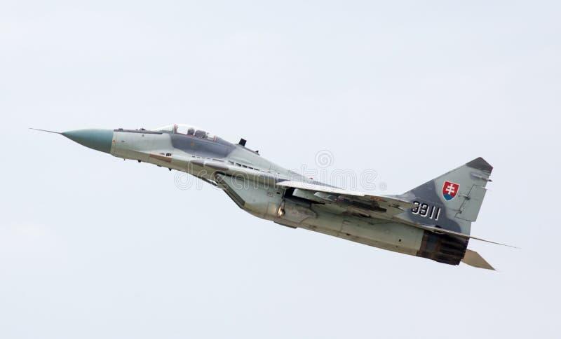 Fulcro dell'aeroplano Mig-29 immagini stock