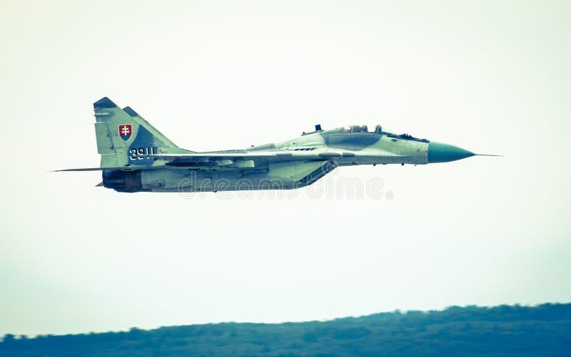 Fulcro dell'aeroplano Mig-29 immagine stock libera da diritti