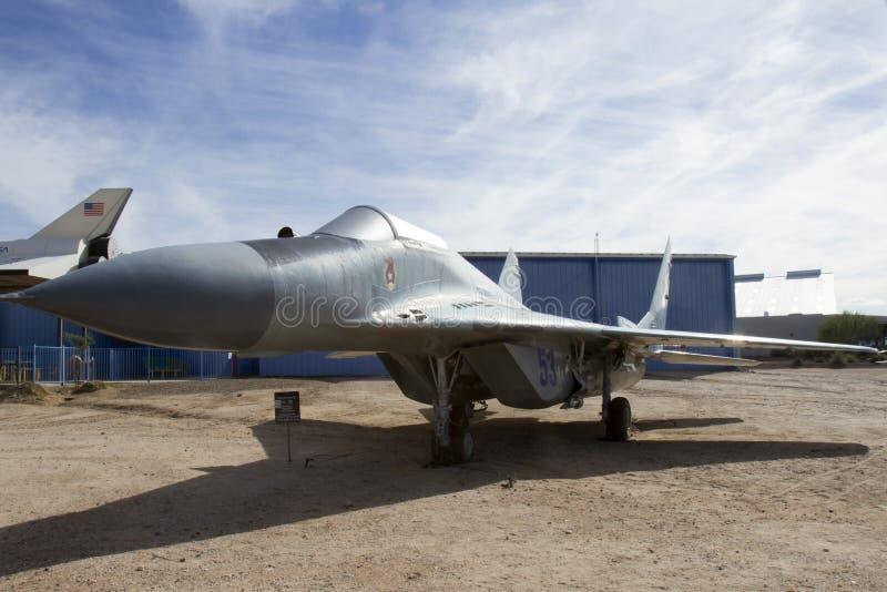 Fulcro di Mikoyan-Gurevick MiG-29 un intercettore immagine stock libera da diritti