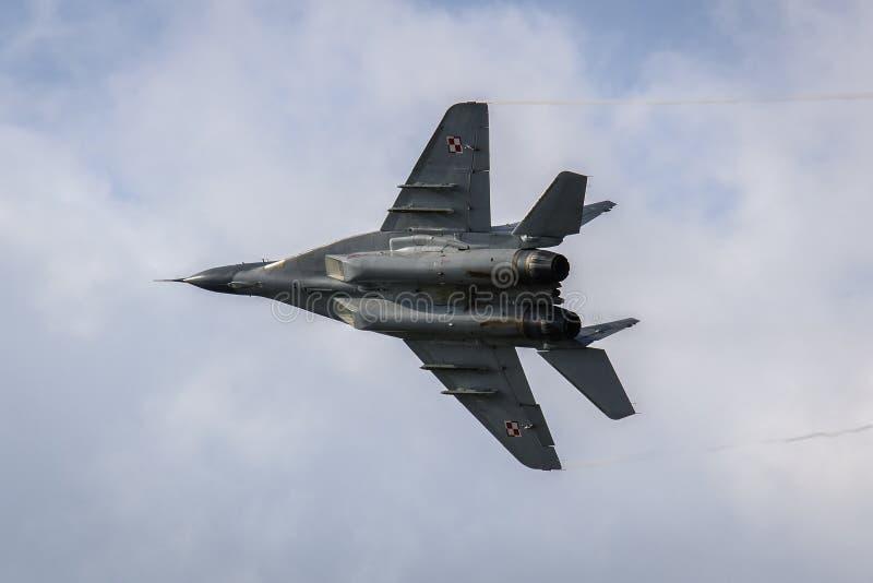 Fulcro polacco MiG-29 fotografia stock libera da diritti
