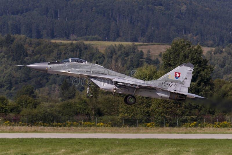 Fulcro slovacco MiG-29 fotografia stock