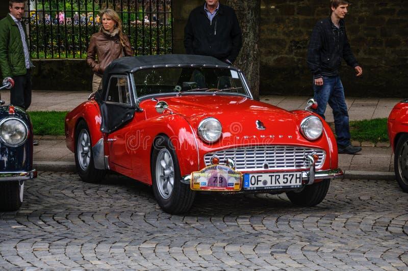 FULDA, ALLEMAGNE - L'AMI 2013 : Triumph TR3 folâtre le roadster de cabrio au sujet de photographie stock libre de droits