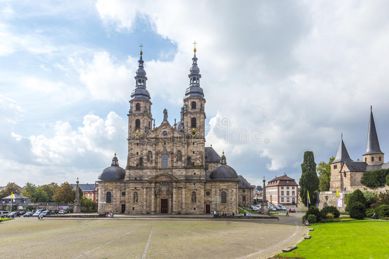 Fulda domkyrka fotografering för bildbyråer