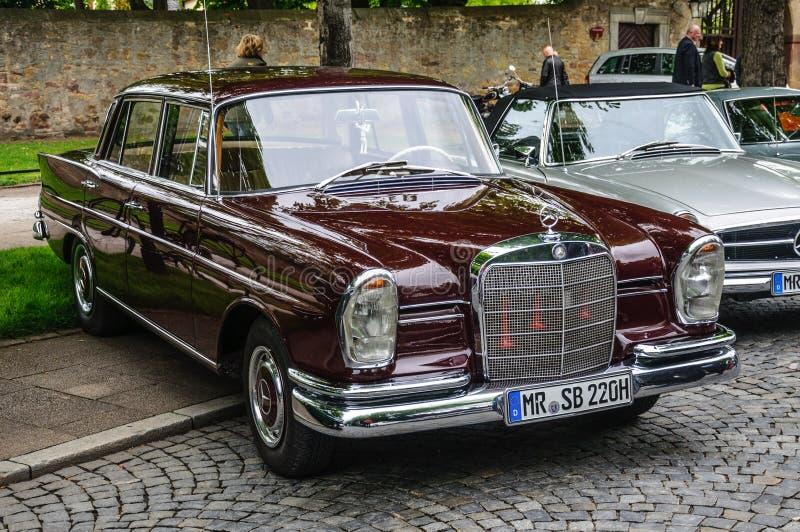 FULDA, GERMANY - MAI 2013: Mercedes-Benz 220 SE Limousine retro. Car on Mai 9, 2013 in Fulda, Germany royalty free stock images
