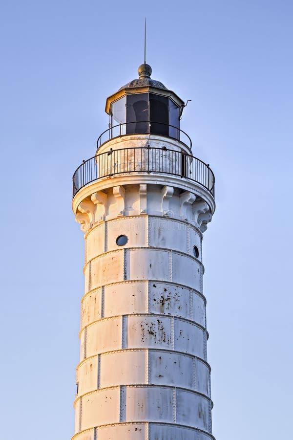 Fulgor da manhã do farol da ilha de Cana fotografia de stock royalty free