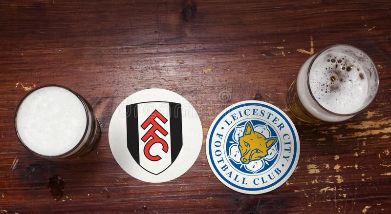 Fulham contre leicester photos libres de droits