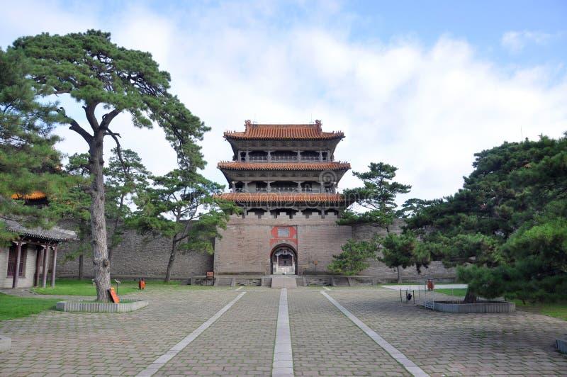 Fuling Tomb av Qing dynasti, Shenyang, Kina arkivfoto